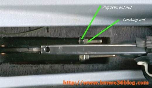 BMW E36 Handbrakes adjustment! | BMW E36 Blog