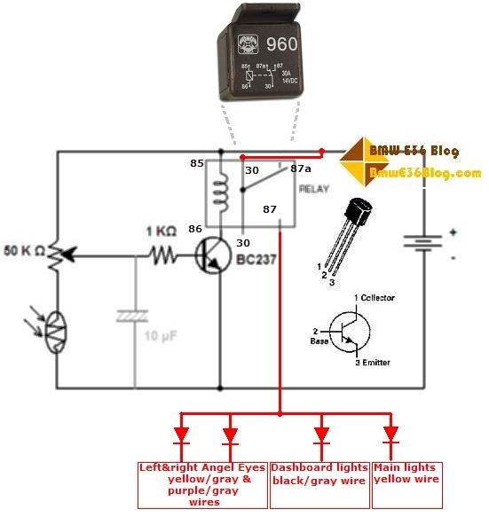 auto light controller circuit 06 e36 auto light sensor bmw e36 blog bmw e36 tail light wiring diagram at n-0.co