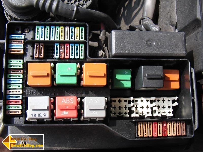 BMW E36 Fuse Box / Relay Layout | BMW E36 Blog