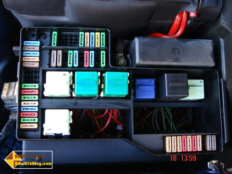 bmw e36 fuse box relay layout bmw e36 blog i suggest that you either bookmark this article for later reference or at least print it and keep a copy of it inside your car and be stick it inside