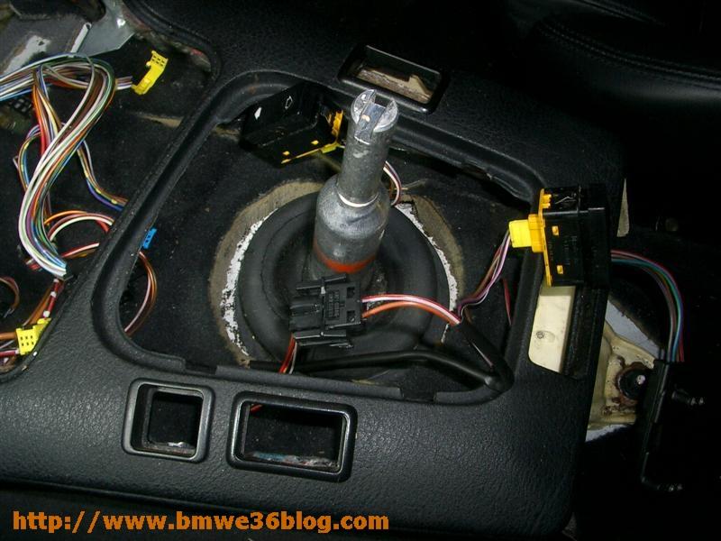 photos bmw e36 install lighted shift knob bmw e36 install lighted shift knob 02