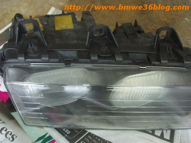 photos clean bmw e36 headlight bmw e36 headlight02