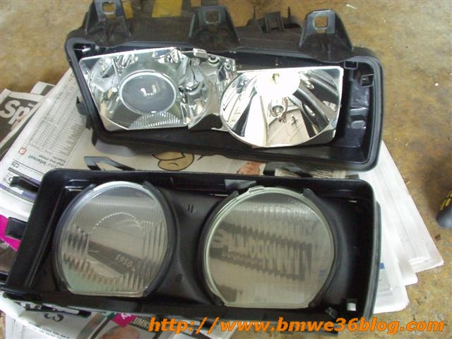 photos clean bmw e36 headlight bmw e36 headlight04