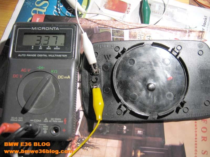 photos fixing e36 heated mirrors fixing e36 heated mirrors 02