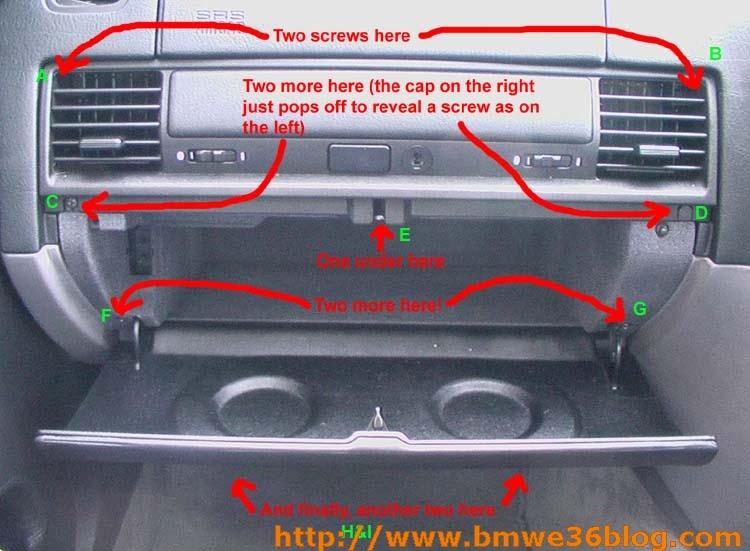 photos remove e36 glovebox image01
