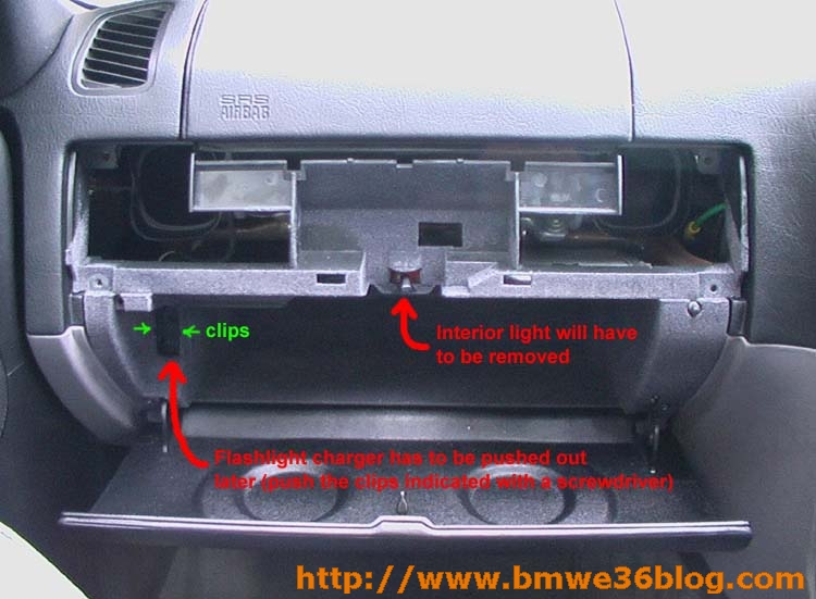 photos remove e36 glovebox image04