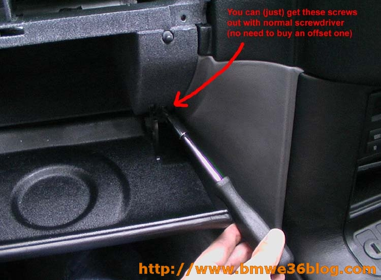 photos remove e36 glovebox image06