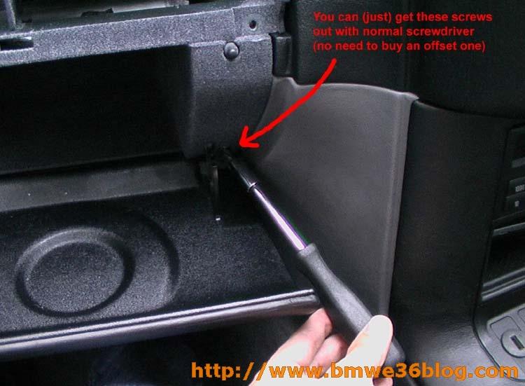 photos remove e36 glovebox image06
