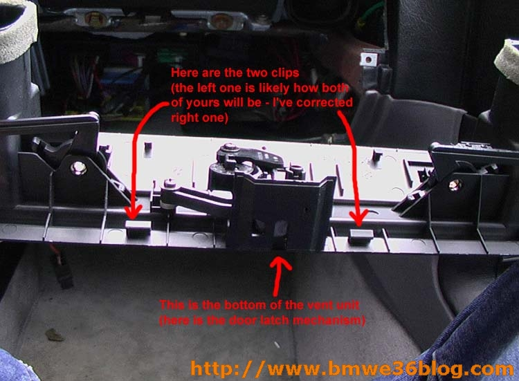 photos remove e36 glovebox image09