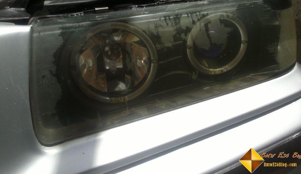 photos replacing bmw e36 headlights replacing bmw e36 headlights 02