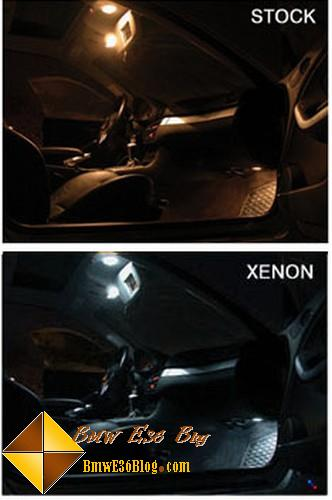 bmw e36 xenon interior light
